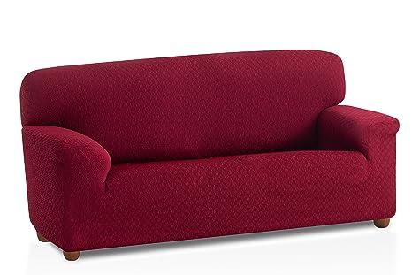 Bartali Funda de sofá elástica Olivia - Color Granate - Tamaño 2 plazas (de 110 a 150 cm)