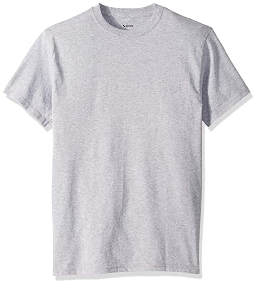 4a709b419 Soffe Men's Classic 100% Cotton Short Sleeve T-Shir, Athletic Oxford Small
