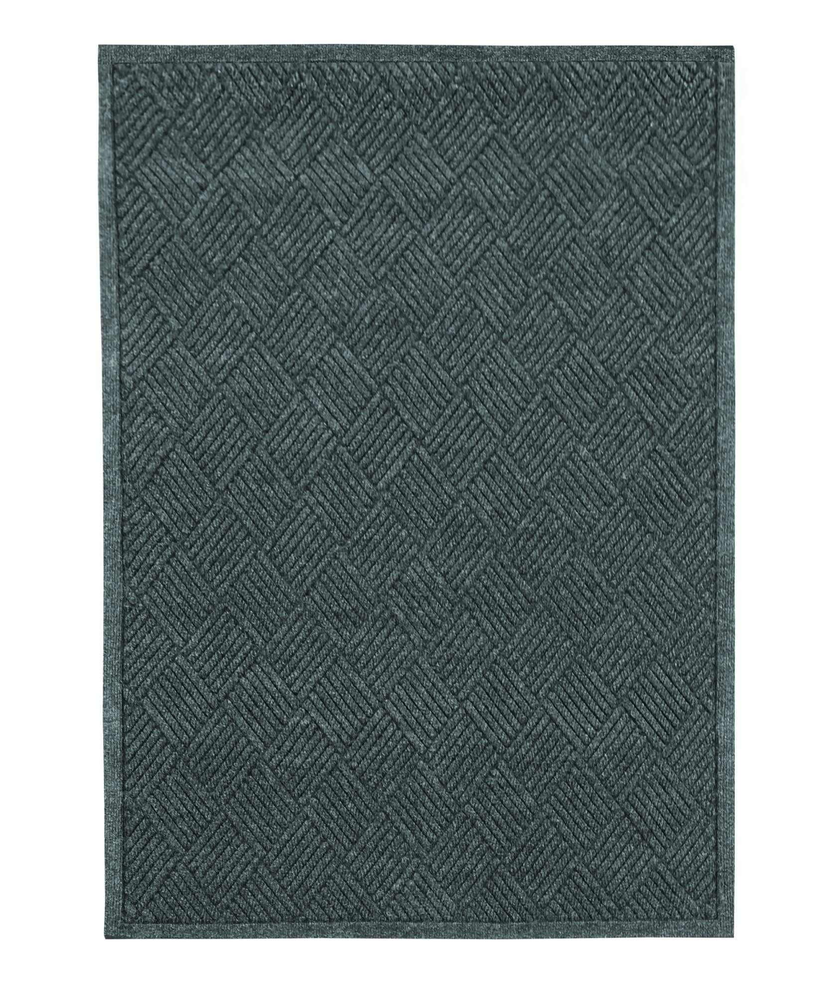 Guardian EcoGuard Diamond Indoor Wiper Floor Mat, Recycled Plactic and Rubber, 3'x4', Charcoal Black by Guardian