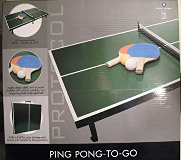 Table Top Ping Pong To Go By Protocol