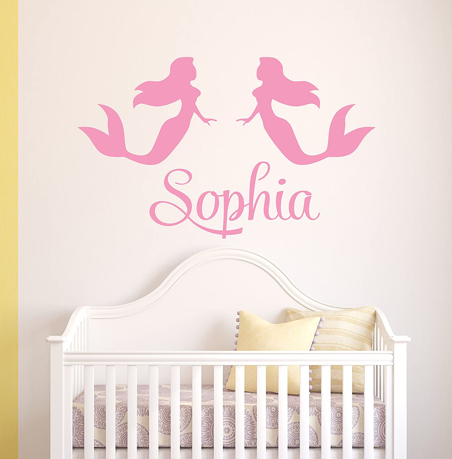 Personalized Mermaids Name Wall Decal - Mermaid Decoration - Nursery Wall Decals - Girl Wall Decal Vinyl Sticker