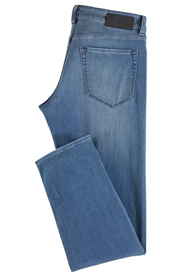 6b70865c4 Amazon.com: Hugo Boss Men's Maine Regular Fit Washed Stretch Jean (36 X 34,  Blue): Clothing