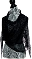 Petal Rose Sheer Bridal Glitter Sparkle Shawl Wrap Fringe Prom Weddings Party Evening Scarfs for Women