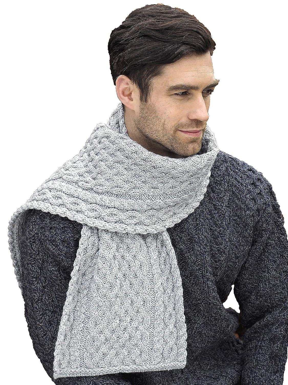 100/% Merino Wool Aran Crafts Trellis Pattern Merino Scarf