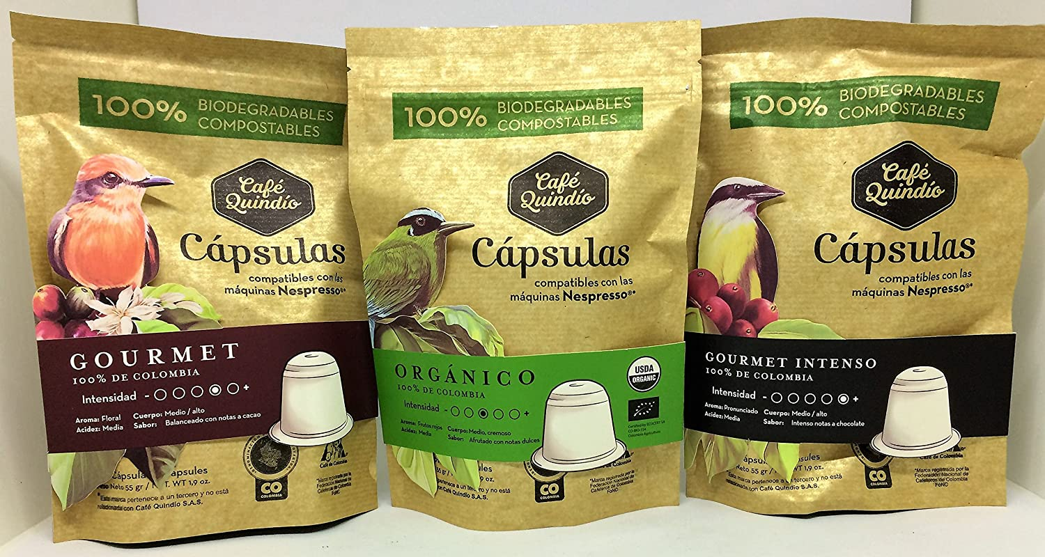 Coffee Capsules Nespresso compatible, Coffee Quindio Gourmet Capsules,100% Colombian Coffee,Medium-Dark Roast Coffee: Amazon.com: Grocery & Gourmet Food