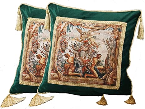 Amazon.com: Escudo de armas y ángel (G) Medieval Tapestry ...