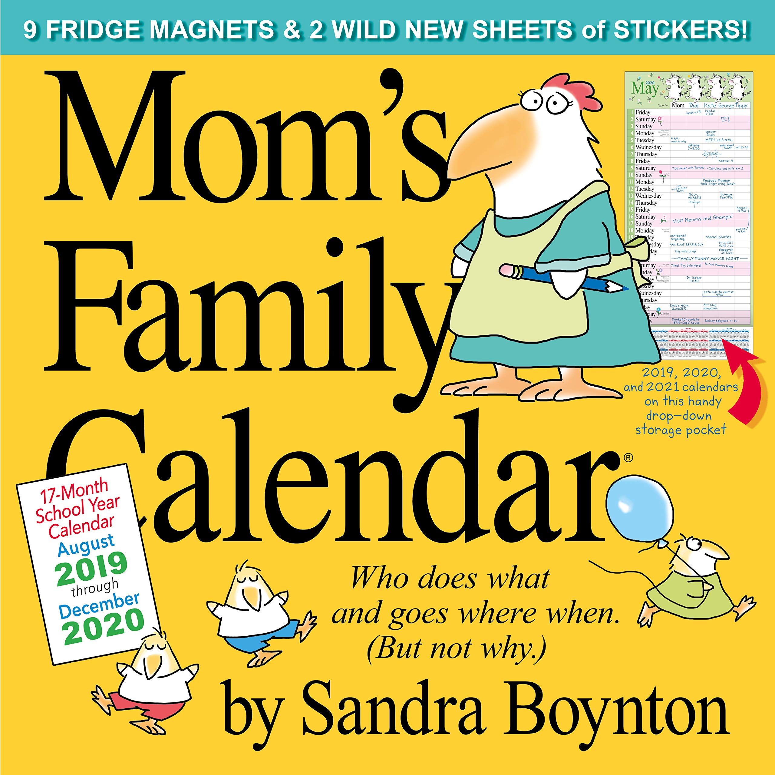 Mom Calendar 2020 Mom's Family Wall Calendar 2020: Sandra Boynton: 9781523505968