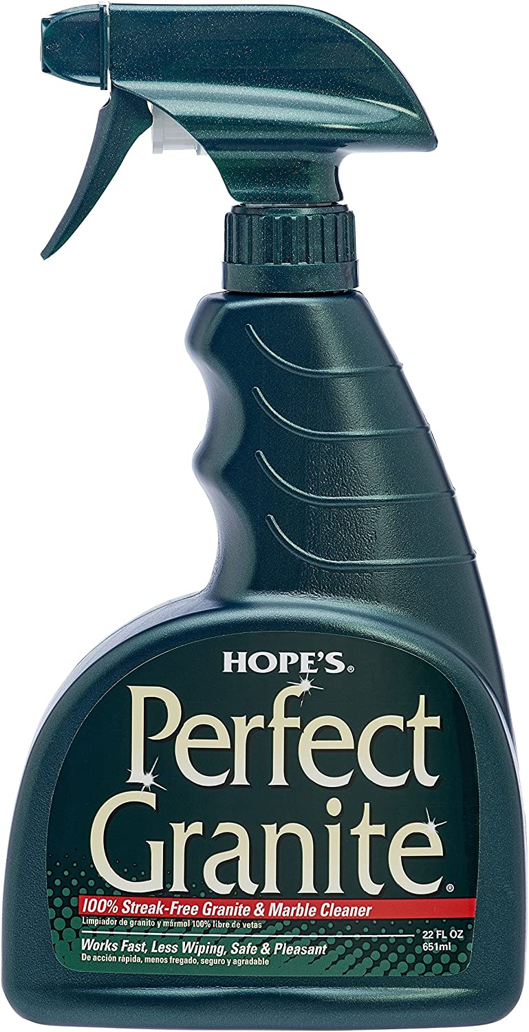 Hope's Perfect Granite & Marble Cleaner, 22-Ounce, Safe, Streak-Free, Ammonia-free Granite Cleaning Spray