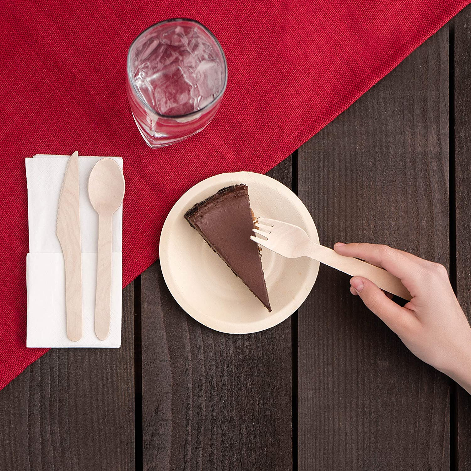 160mm Birchware 2500-Piece Compostable Wooden Spoons