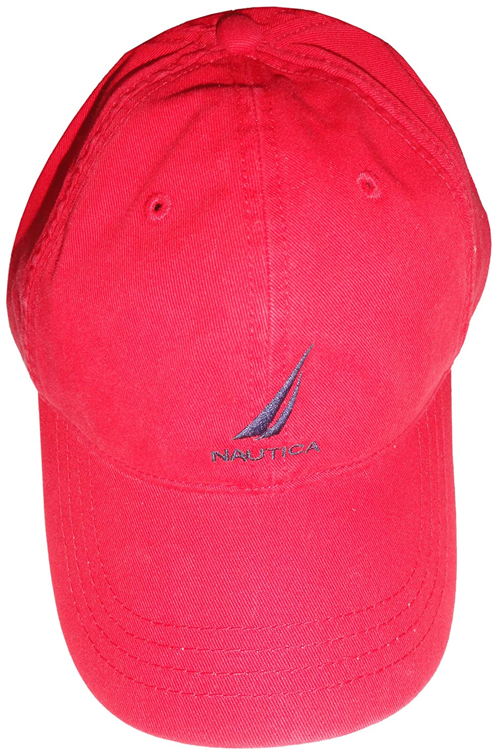 Nautica Men s Hat Ball Cap Red with Logo  Amazon.in  Clothing   Accessories 557e515dd1e