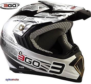 3GO E66X FLASH HOMBRES MUJERES MOTOCROSS DIRT ATV OFF ROAD QUAD ENDURO ACU ECE VERIFICADO CASCO