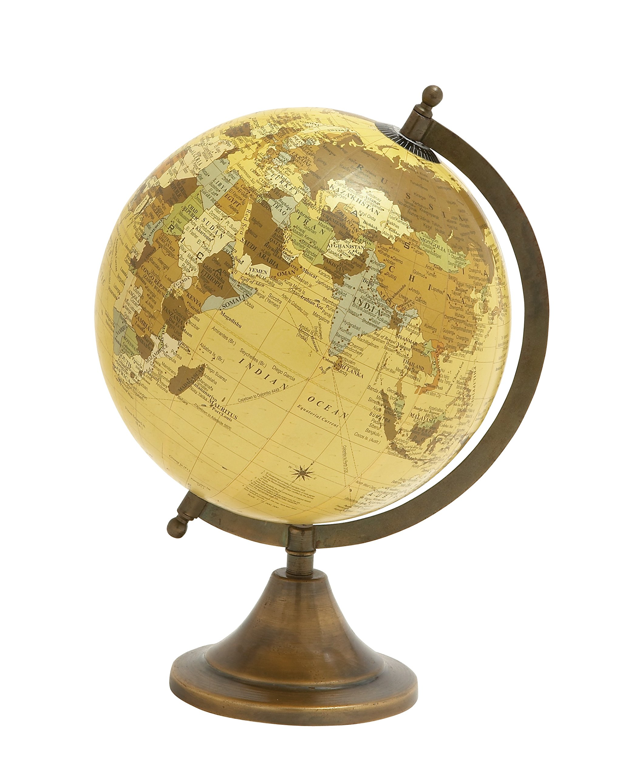 Deco 79 Traditional Plastic Globe with Metal Base, 12'' H x L, Multicolored Finish