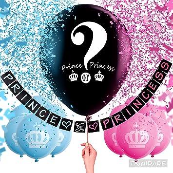 Paquete De 12 Niños Fiesta Globos-GIRL /'S Rosa y Azul Princesa