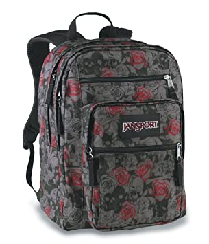 JanSport Big Student Backpack (Carbonic Grey Skulls N Roses)  Amazon.co.uk   Sports   Outdoors c27db1786d680