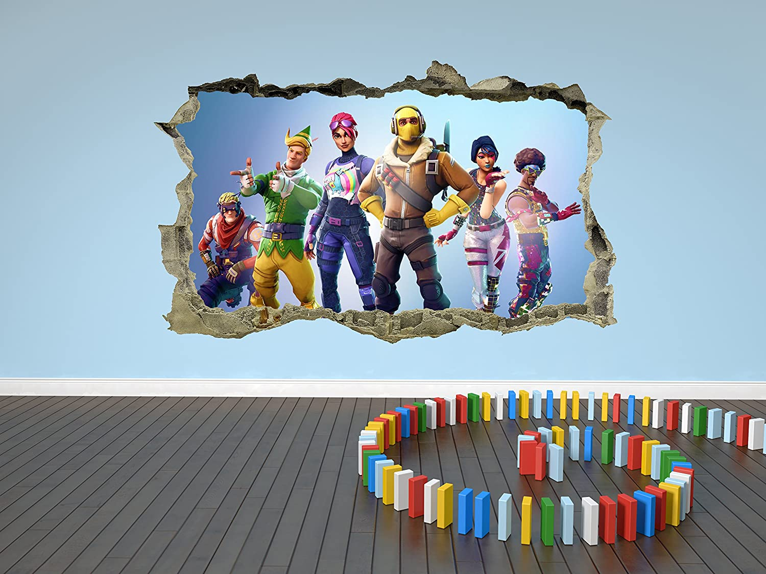 Fortnite wall sticker decal 3d breakout wall art amazon co uk diy tools
