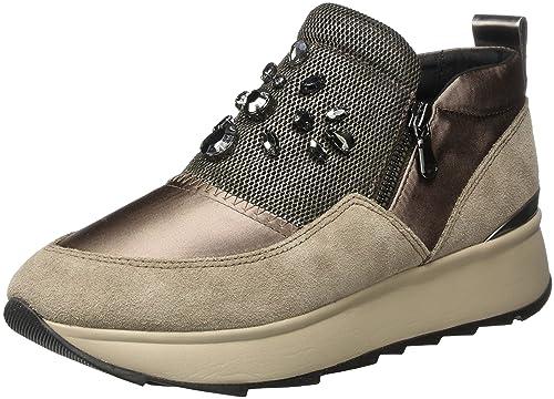 Geox D Omaya a, Zapatillas para Mujer, Marrón (Taupe), 39 EU
