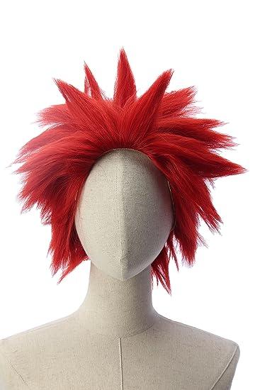 Kirishima Eijiro Unisex Dark Red Short Spiky Party Anime Cosplay Wig