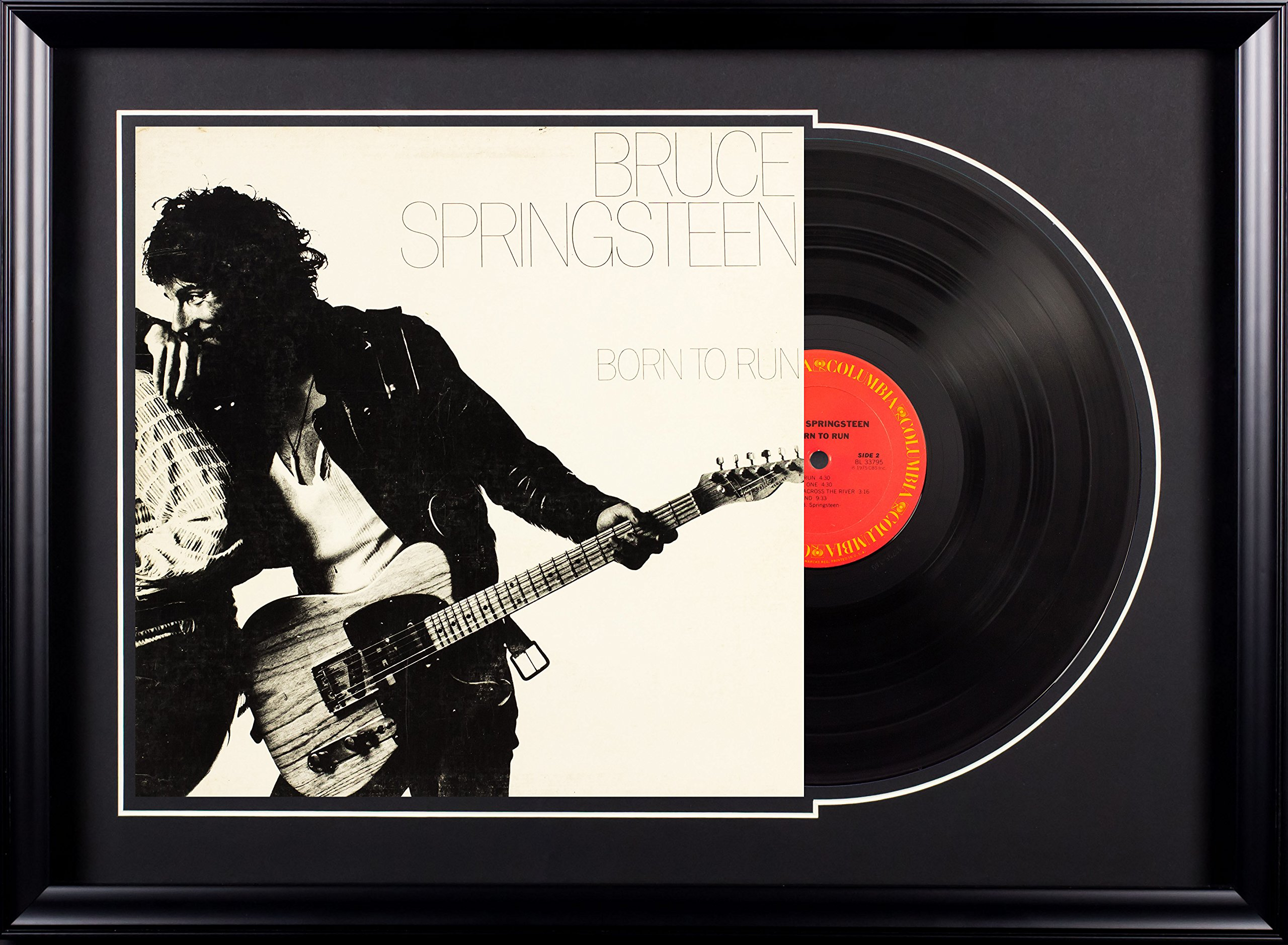 Vintage Favs Bruce Springsteen Born to Run Deluxe Framed Vintage Vinyl Album by Vintage Favs
