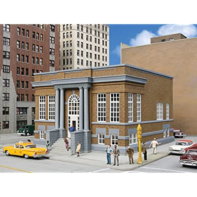 "Walthers Cornerstone HO Scale Model Public Library Kit, 8-1/2 x 6-1/2 X 4-3/4"" 21.5 x 16.5 x 12cm: Toys & Games"