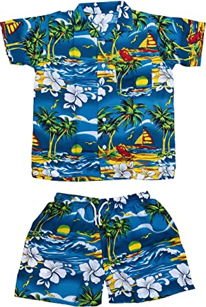 Club Cubana - Juego de camisas y pantalones cortos de manga corta para niños y niñas: Amazon.es: Ropa y accesorios
