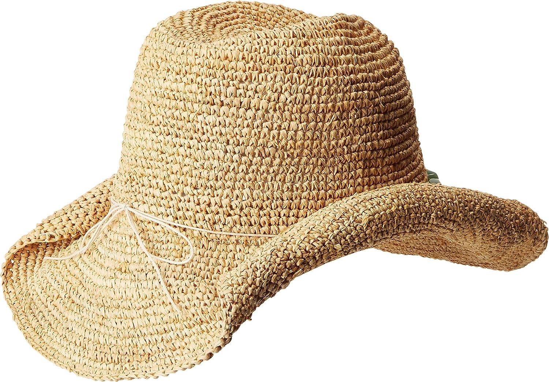 San Diego Hat Company Womens Crochet Raffia Cowboy Hat With
