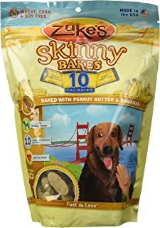 product image for Zukes Skinny Bakes Peanut Butter & Banana Crunch Flavor Overweight Dogs 12oz 10s