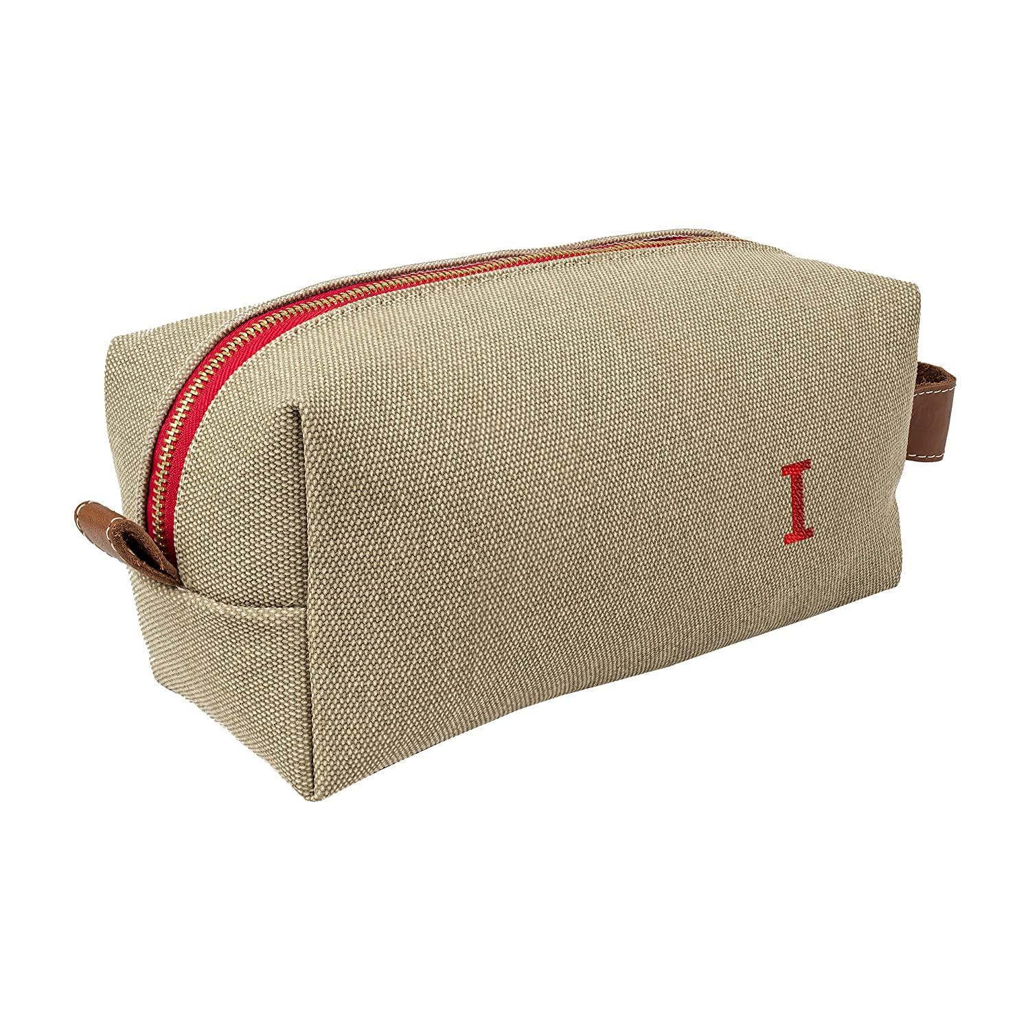 69bc132d07f1 Amazon.com  Cathy s Concepts Personalized Waxed Canvas   Leather Dopp Kit