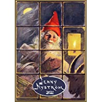 "Wall Calendar 2021 [12 pages 8""x11""] Christmas Gnomes Scenes and Gifts by Jenny Nystrom Vintage Fantasy"