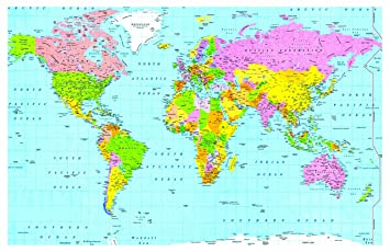 Laminated world map small size 15x225 inches atlas school type laminated world map small size 15x225 inches atlas school type poster gumiabroncs Gallery