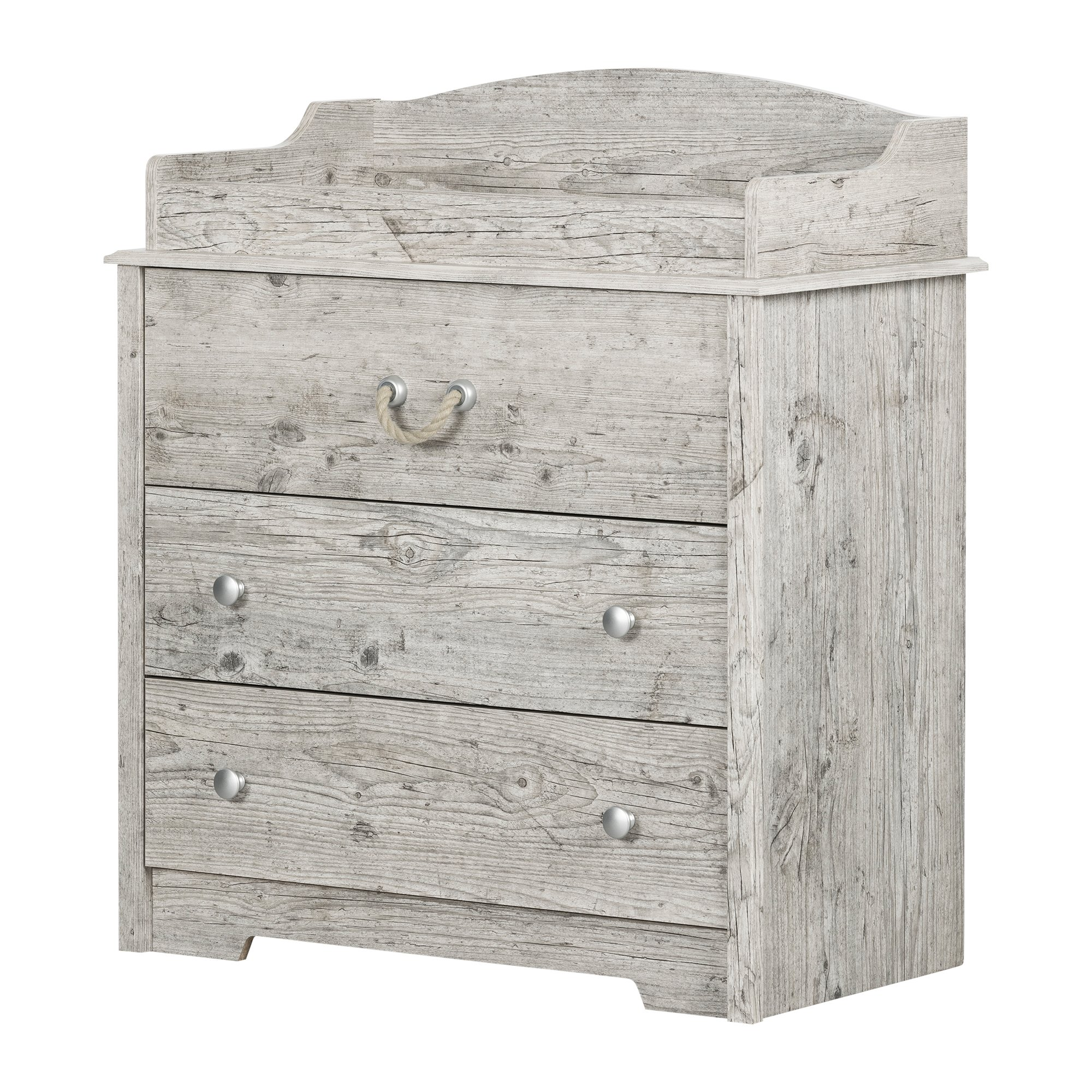 South Shore 11894 Aviron Changing Table with Drawers, Seaside Pine by South Shore
