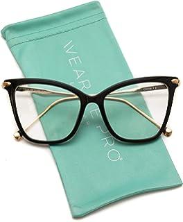96a88672fe WearMe Pro - New Elegant Oversized Clear Cat Eye Non-Prescription Glasses