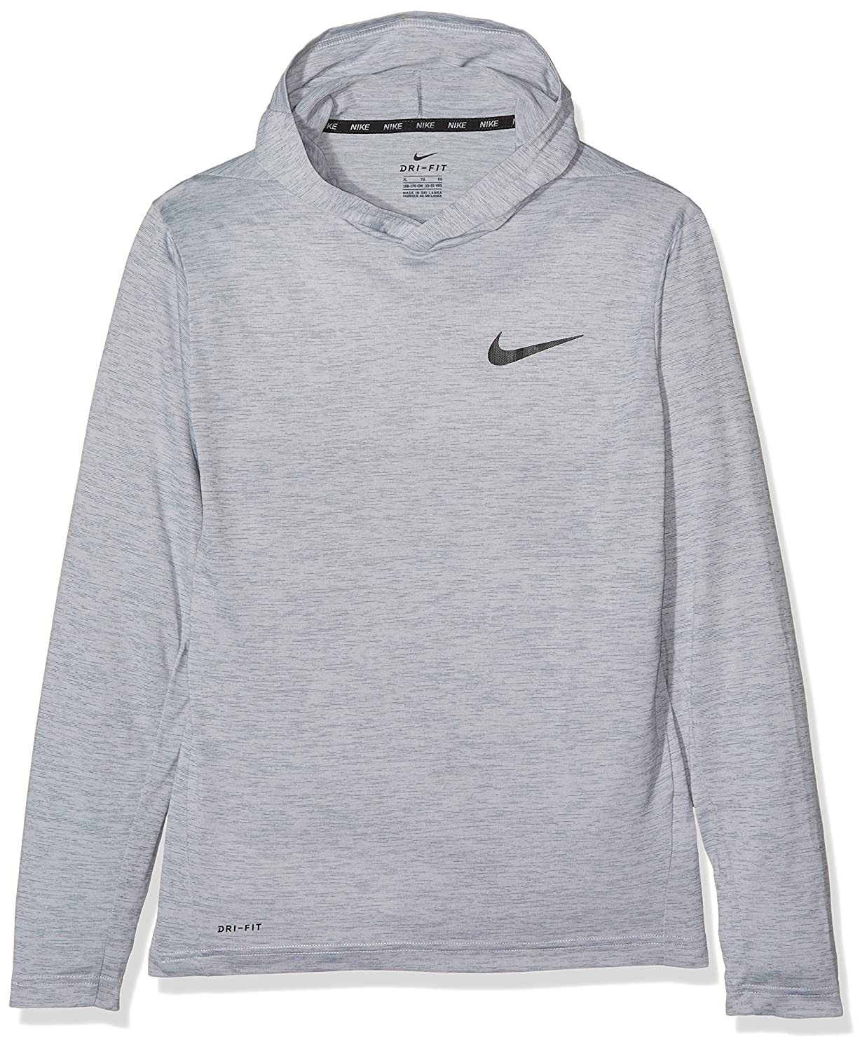 642f229c Amazon.com: Nike Big Kids' (Boys') Training Hoodie (Small, Cool  Grey/Black): Clothing