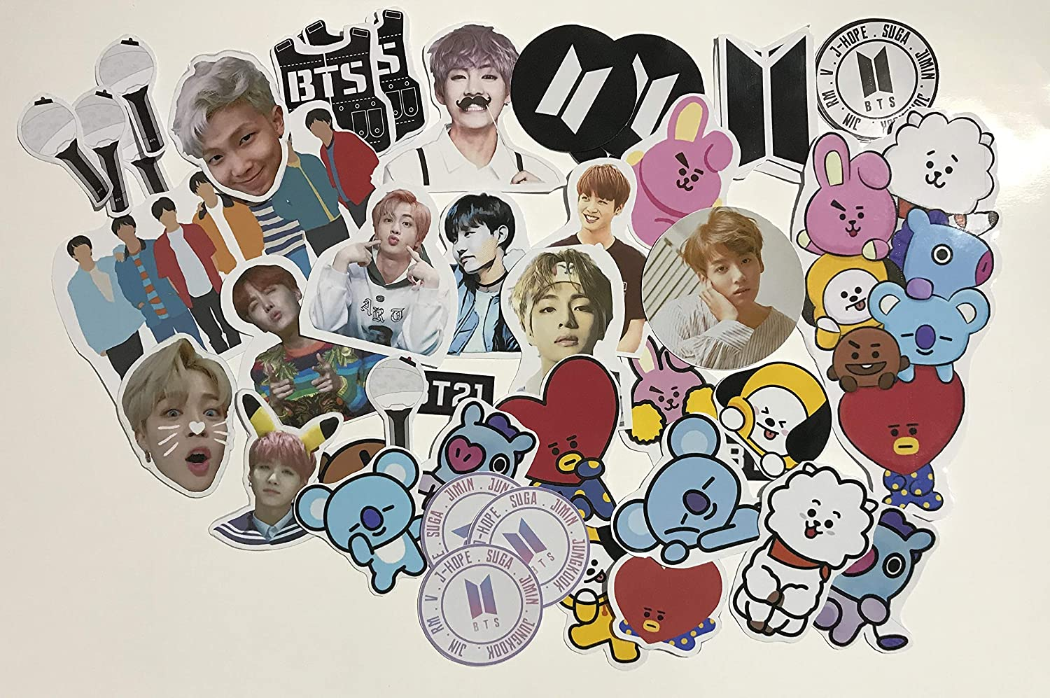 Buy Bts Stickers Version 1 Bt21 Bts Logo Stickers Bts Light Stick Army Bomb Stickers 46 Stickers Online At Low Prices In India Amazon In