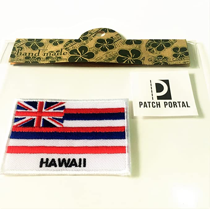 HAWAII USA THE ALOHA STATE EMBROIDERED MAP PATCH 2 X 3 INCHES