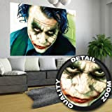 Poster Joker Mural Decoration Heath Ledger Batman The Dark Knight Clowns Movie Gotham Villain DC Comic DC Universe   Wallposter Photoposter wall mural wall decor by GREAT ART 55 Inch x 39.4 Inch