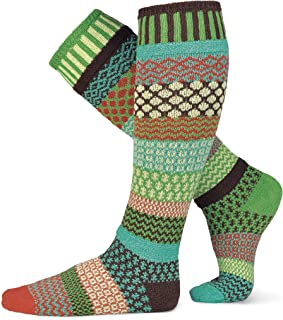 product image for Solmate Socks - Mismatched Knee High Socks, USA Made with Recycled Cotton Yarns