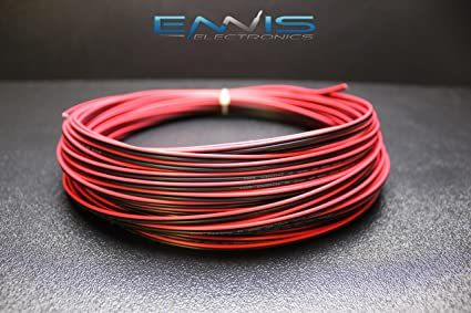 18 GAUGE RED BLACK SPEAKER WIRE PER 10 FT AWG CABLE POWER GROUND STRANDED COPPER