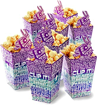 Cartoon Popcorn Box Decoration-Imposter Game Theme Supplies Favor Bags,12 Pcs Popcorn Bags Treat Box for Movie Nights Carnivals Birthday Party Supplies