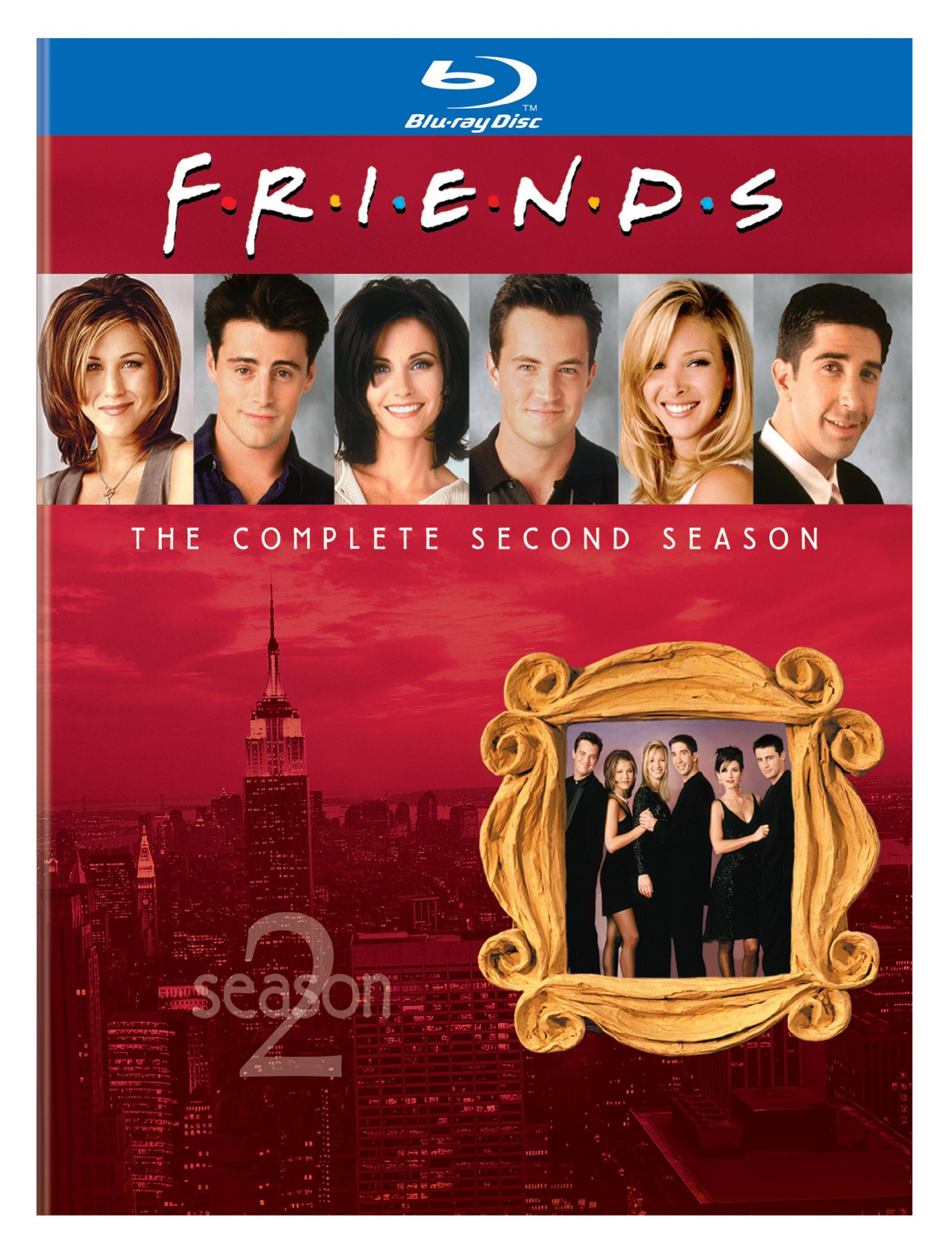 Blu-ray : Friends: The Complete Second Season (, Slipsleeve Packaging, Dolby, AC-3, 2 Pack)