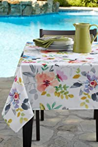 Benson Mills Indoor Outdoor Spillproof Tablecloth for Spring/Summer/Party/Picnic (Harper, 60