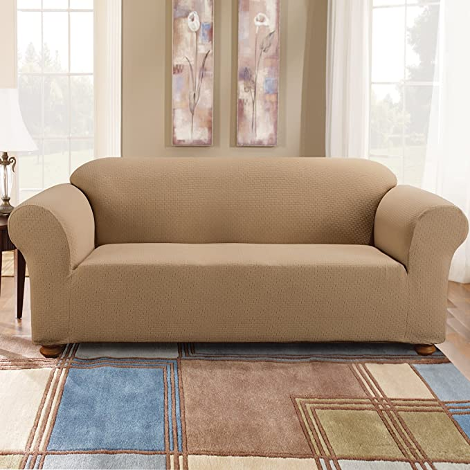 Amazon.com: Sure Fit simple Stretch Subway sofá Slipcover ...