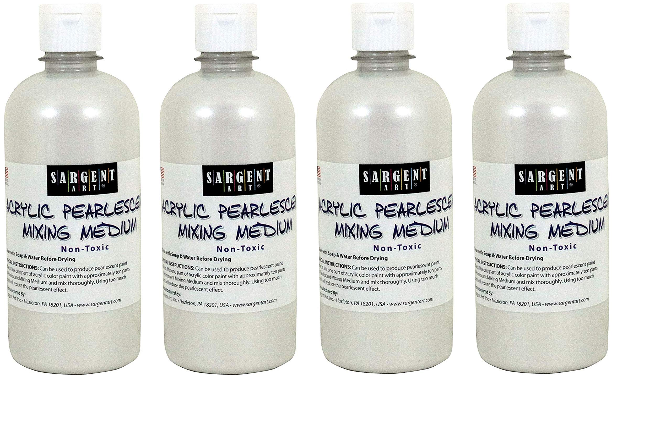 Sargent Art 22-8813 16-Ounce Pearlescent Mixing Medium (4-Pack) by Sargent Art