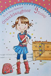 To A Very Special Granddaughter 9 Today Birthday Card