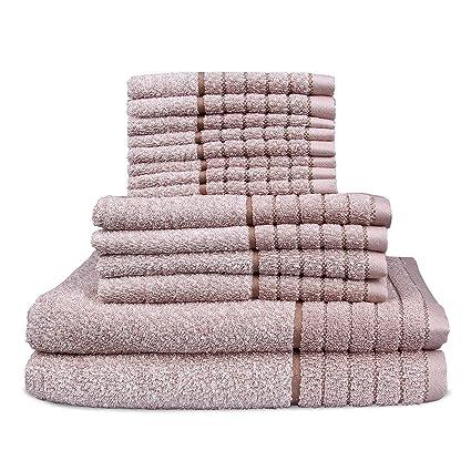 DIHOOM Juego de Toallas 100% algodón Absorbente Suave, duraderos, se Puede Lavar a