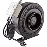 """Apollo Horticulture 6"""" Inch 440 CFM Inline Duct Fan with Built In Variable Speed Controller"""