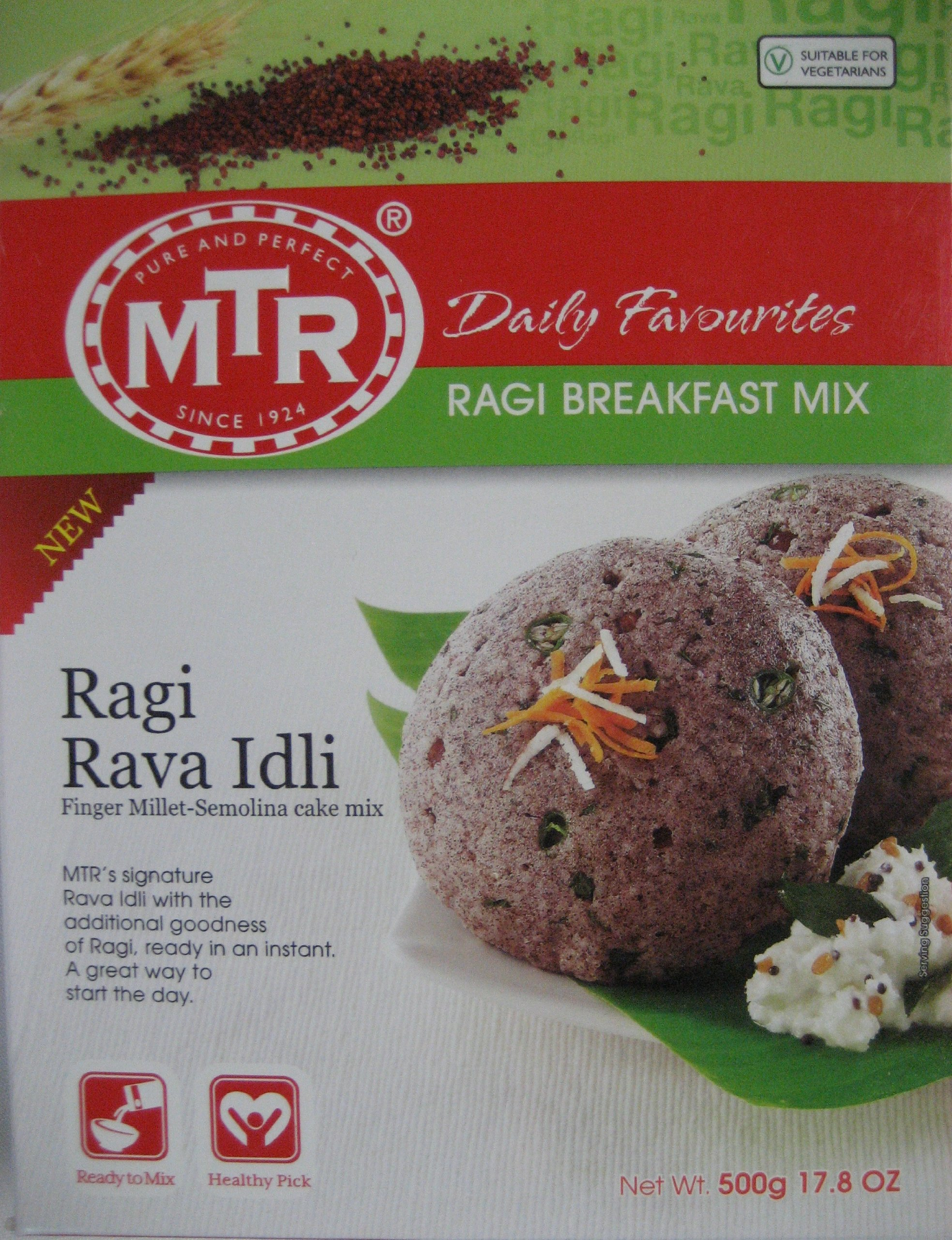 MTR Ragi Rava Idli 500 Gm (Pack of 2) (Free Shipping) by Subhlaxmi Grocers