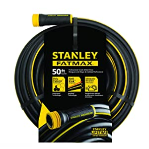 "Stanley Fatmax Professional Grade Water Hose, 50' x 5/8"", Black 500 PSI"
