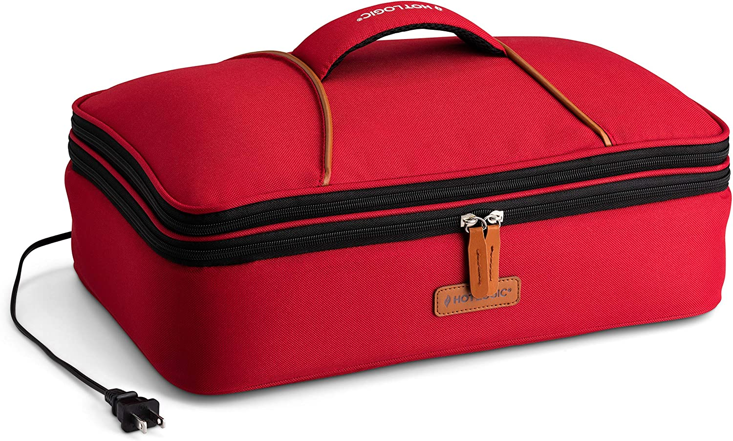 HotLogic 16801170-RD Food Warming Tote Casserole Carrier Plus 120V, Red