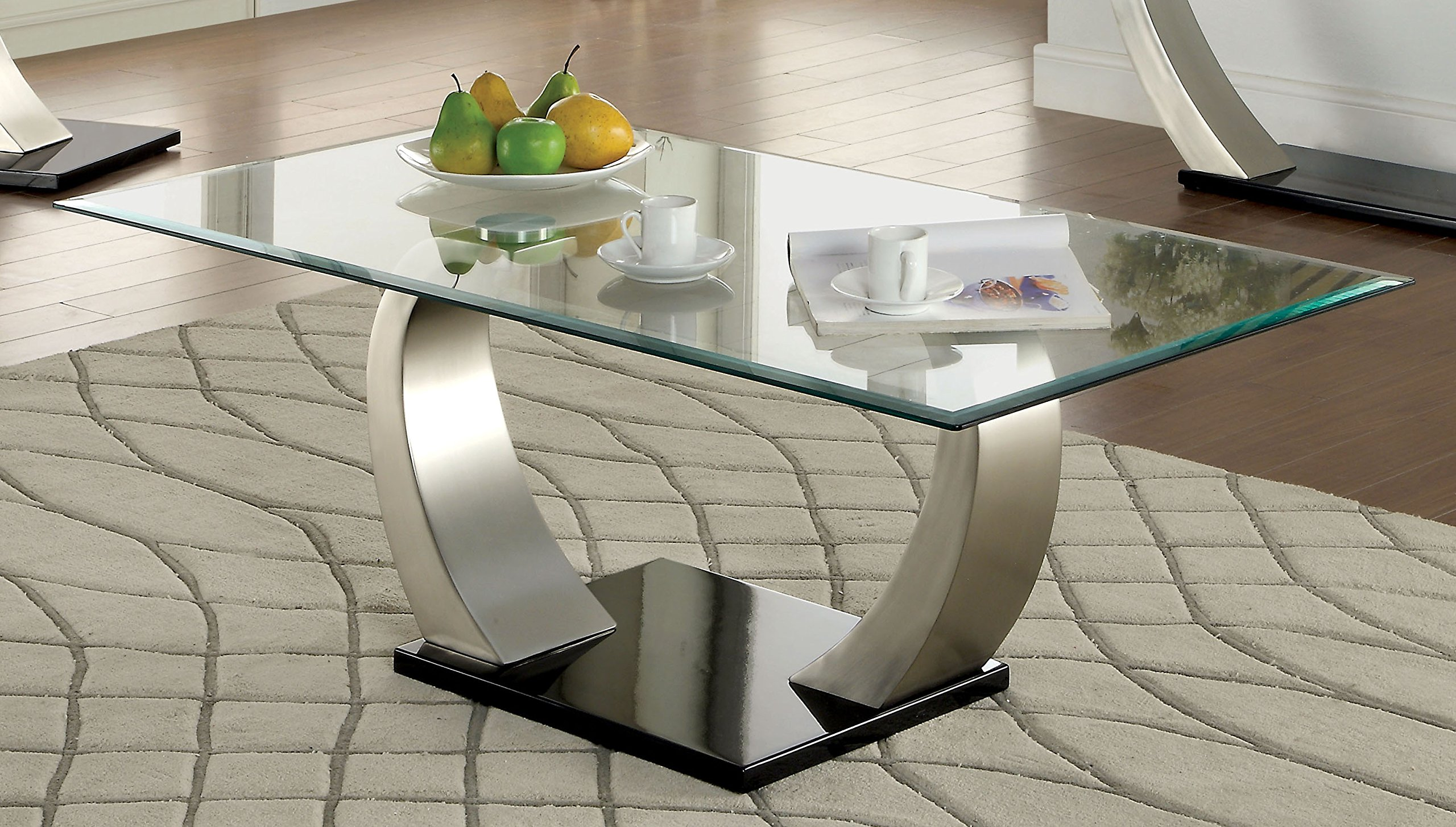 Furniture of America Kassius Modern Coffee Table, Metallic Finish by Furniture of America