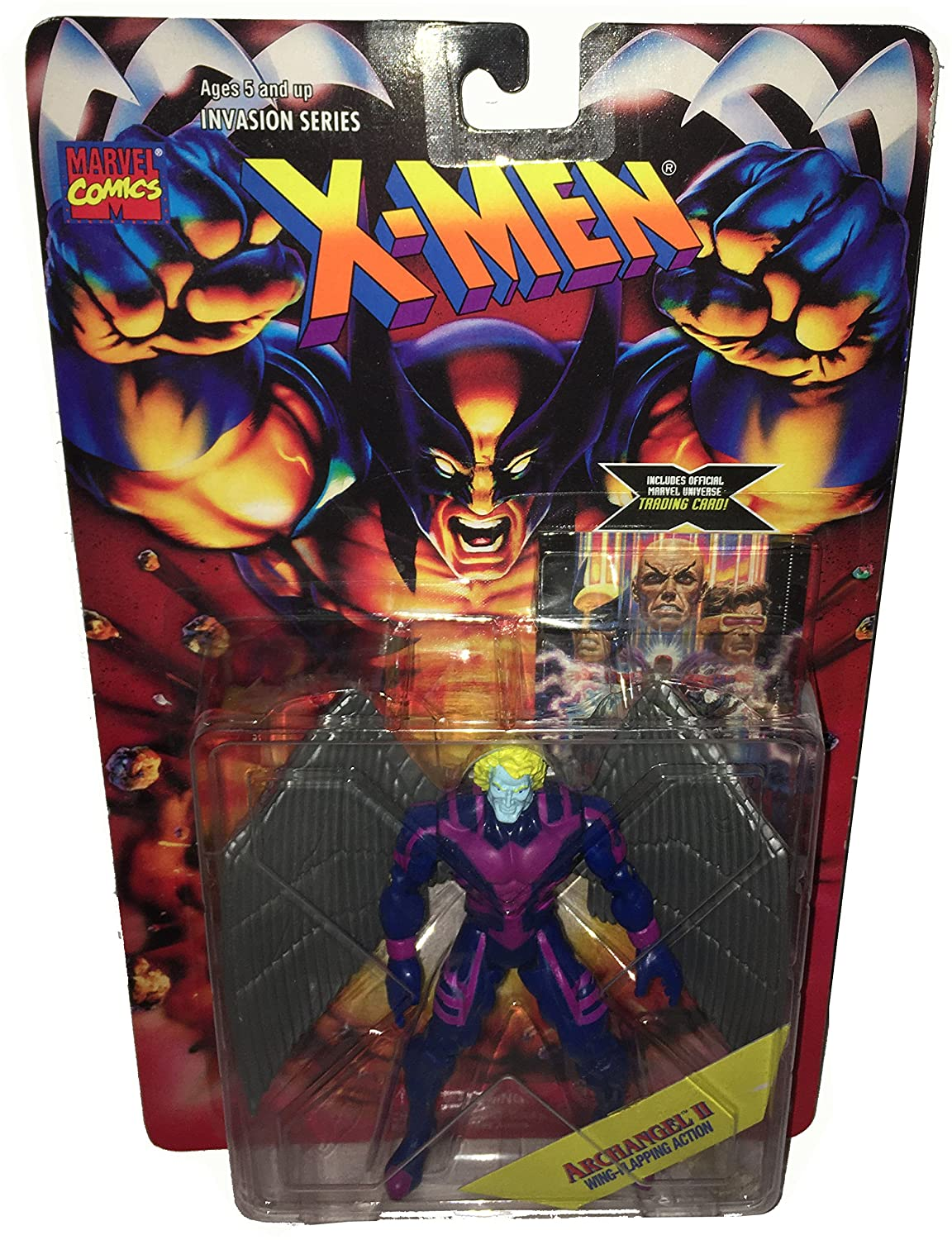 Marvel Comics X-MEN Actionfigur Invasion Series: ARCHANGEL 2 (Wing-Flapping Action)